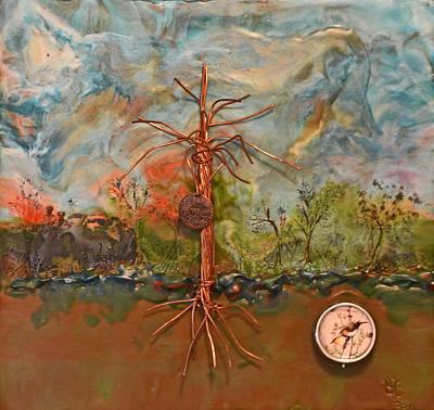 Root Of Mixed Media - Family Tree Of Knowledge by Sally Clark