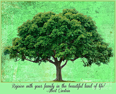 Digital Art - Family Tree Quote Einstein by Mindy Bench