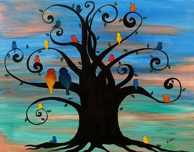 Painting - Family Tree by Vikki Angel
