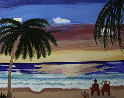 Etc Painting - Family Vacation by Donna Guzman