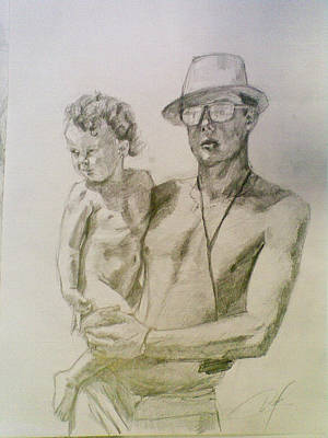 Drawing - Family by Vaidos Mihai