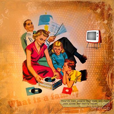 Caring Mother Mixed Media - Family Values by Gillian Singleton