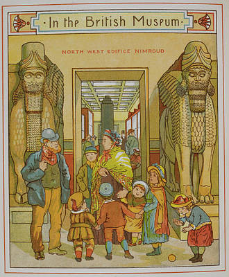 Family Visiting The British Museum Art Print