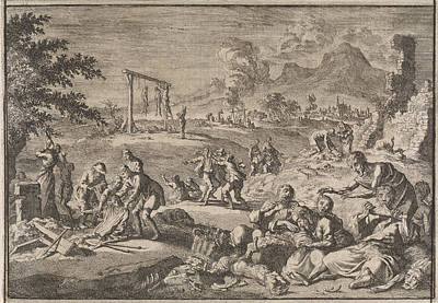 Cannibalism Drawing - Famine In Germany, 1637, Johann David Zunnern by Johann David Zunnern