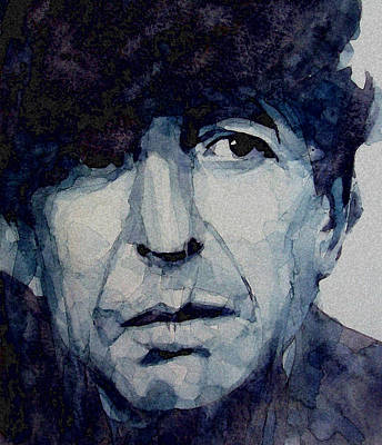 Singer Painting - Famous Blue Raincoat by Paul Lovering