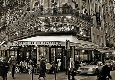 Photograph - Famous Cafe De Flore - Paris by Carlos Alkmin