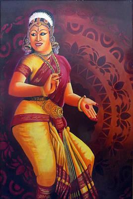 Nataraja Painting - Famous Dance Bharathanatyam Version 2 by Arun Sivaprasad