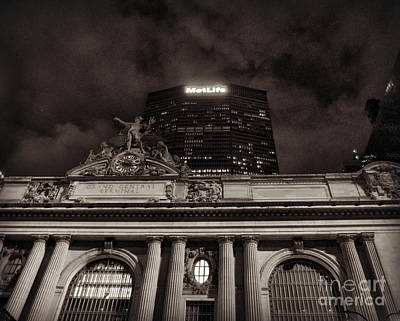 Photograph - Famous Landmarks Of New York - Grand Central And Metlife Building by Miriam Danar