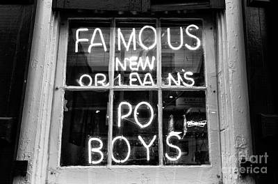 Photograph - Famous New Orleans Po Boys Mono by John Rizzuto