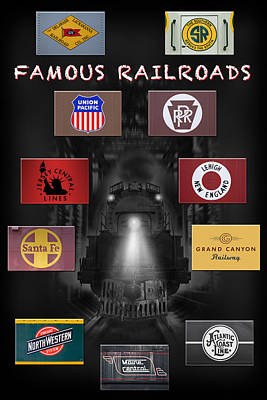 Atlantic Coast Digital Art - Famous Railroads by Mike McGlothlen