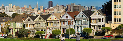 Painted Lady Photograph - Famous Row Of Victorian Houses Called by Panoramic Images