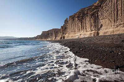 Greece Photograph - Famous Vlychada Black Beach In Santorini - Greece by Matteo Colombo