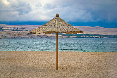 Photograph - Famous Zrce Beach Umbrella Out Of Season by Brch Photography