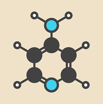 Fampridine Drug Molecule Art Print by Molekuul