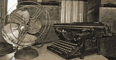 Photograph - Fan And Typewriter by Holly Blunkall