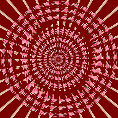Mixed Media - Fan Chakra Round Circle Artistic Mandala By Reiki Healing Master Navinjoshi by Navin Joshi