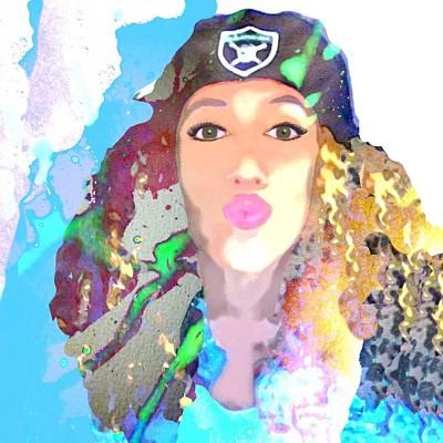 Woman Digital Art - Fan  by Cindy Edwards