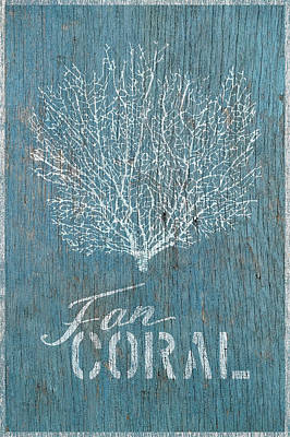 Shell Sign Painting - Fan Coral by Cora Niele