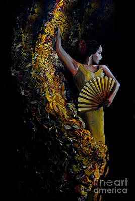 Painting - Fan Dance by Nancy Bradley