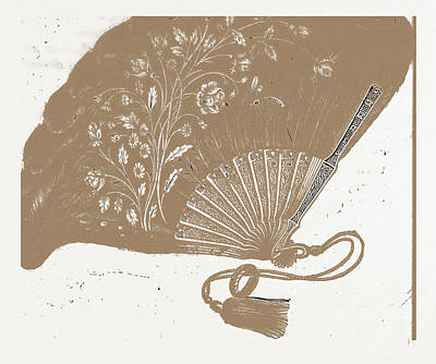 Evening Dress Drawing - Fan For Evening Dress, Needlework by Litz Collection
