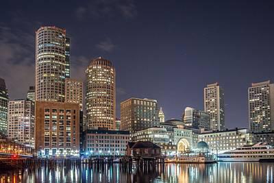 Photograph - Fan Pier Boston Ma On A Hot July Night by Bryan Xavier