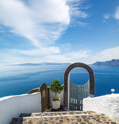 Fanastic View From Santorini Island Art Print