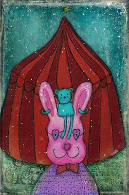 Mixed Media - Fanciful Circus by Barbara Orenya