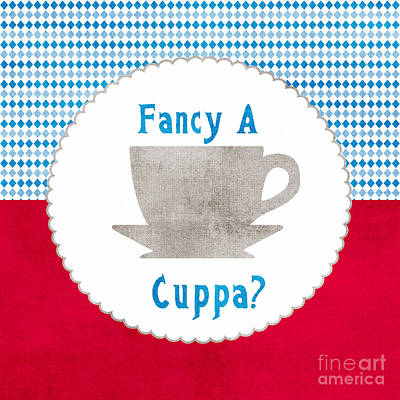 English Painting - Fancy A Cup by Linda Woods