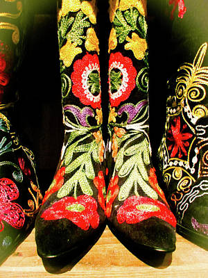 Fancy Boots Art Print by Angela Wright