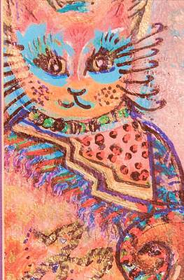 Fancy Cat Art Print by Anne-Elizabeth Whiteway