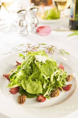 Photograph - Fancy Healthy Salad On A White Plate. by Don Landwehrle