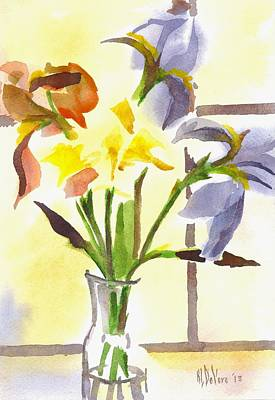 Daffodils Painting - Fancy Pants by Kip DeVore