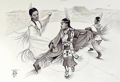 Painting - Fancy Shawl Dance by Art By - Ti   Tolpo Bader