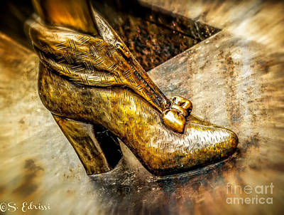 Fancy Shoe Art Print by Sabine Edrissi