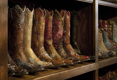 Fancy Western Wear Boots Art Print