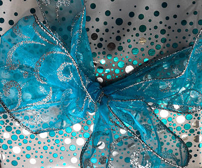 Silver Turquoise Photograph - Fancy Wrapping I by Optical Playground By MP Ray