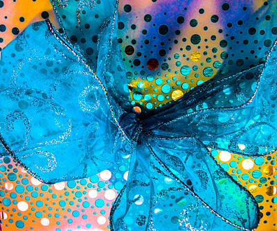 Silver Turquoise Photograph - Fancy Wrapping Iv by Optical Playground By MP Ray