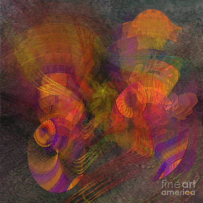 Digital Art - Fandango Mist - Square Version by John Beck