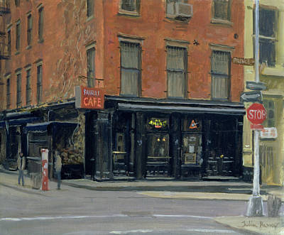 Fanellis Bar, New York, 1996 Oil On Canvas Art Print by Julian Barrow