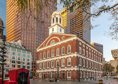 Photograph - Faneuil Hall And Skyscrapers by Susan Cole Kelly