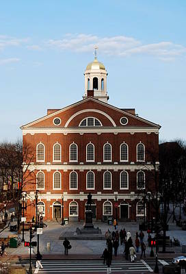 Photograph - Faneuil Hall At Sunset by Caroline Stella