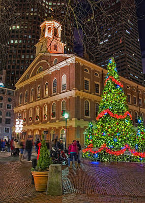 Photograph - Faneuil Hall Christmas Card by Joann Vitali