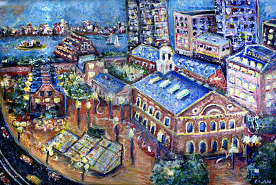 Cambridge University Painting - Faneuil Hall by Jason Gluskin