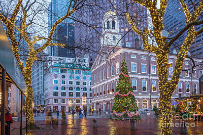 Photograph - Faneuil Hall Lights by Susan Cole Kelly