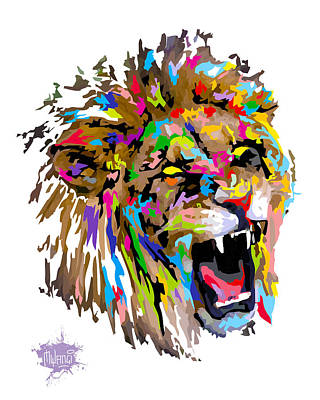 Art Print featuring the painting Fangs by Anthony Mwangi