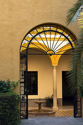 Photograph - Fanned Archway Seville by Lorraine Devon Wilke