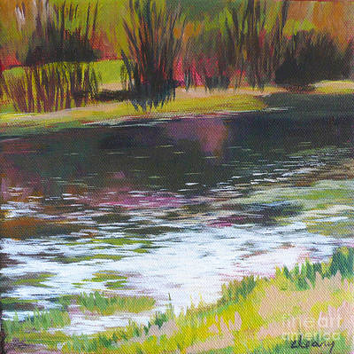 Waterscape Painting - Fanno Creek Beaverton by Melody Cleary