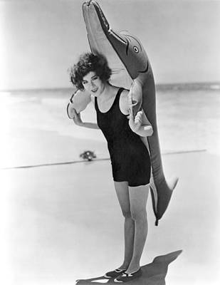 Inflatable Photograph - Fanny Brice And Beach Toy by Underwood Archives