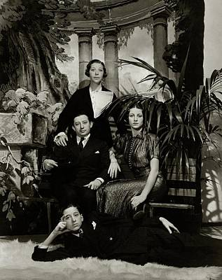 Four Sisters Photograph - Fanny Brice With Her Family by Lusha Nelson