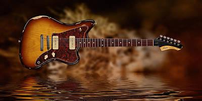 Digital Art - Fano J M-6 Guitar by WB Johnston